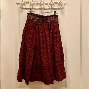 Anthropologie Diamond-cut Midi Skirt